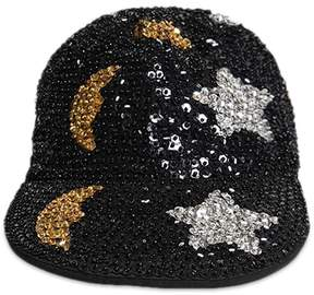 Forever 21 Moon & Star Sequin Duckbill Cap