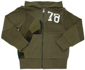 Diesel Hooded Cotton Zip Up Sweatshirt