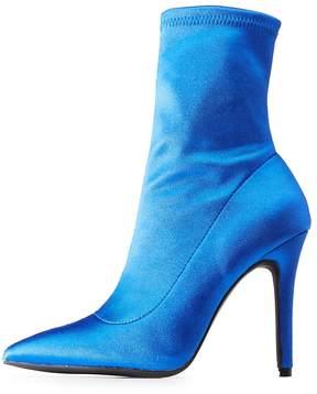 Charlotte Russe Qupid Pointed Toe Sock Booties