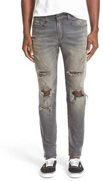 R 13 Men's Skate Shredded Skinny Jeans