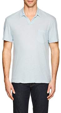 James Perse MEN'S LINEN-COTTON POLO SHIRT