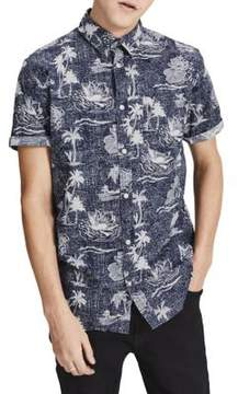 Jack and Jones Joradam Slim-Fit Cotton Button-Down Shirt