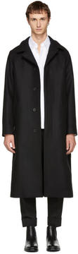 Ami Alexandre Mattiussi Black Long Belted Coat