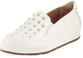 Adrienne Vittadini Goldie Studded Gored Sneakers