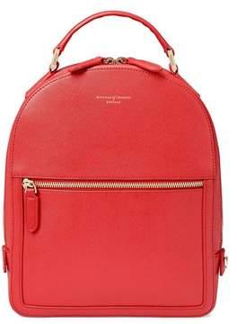 Aspinal of London | Small Mount Street Backpack In Dahlia Saffiano | Dahlia saffiano