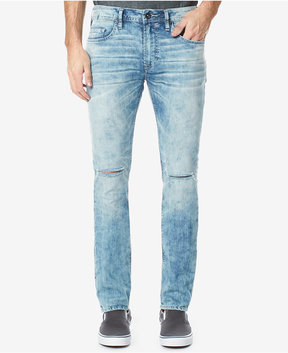 Buffalo David Bitton Men's Medium Blue Ripped Skinny Stretch Jeans