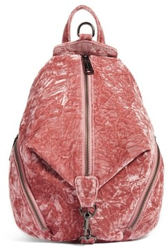 Rebecca Minkoff Medium Julian Velvet Backpack - Pink - PINK - STYLE