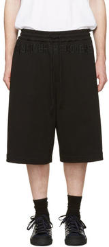 Juun.J Black Discover The Covered Lounge Shorts