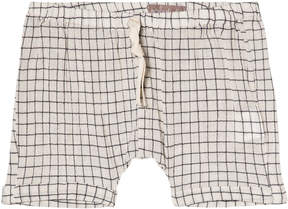 Emile et Ida Cream Carreaux Tile Print Short