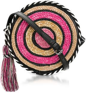 Rebecca Minkoff Pink Multi Straw Circle Crossbody - PINK - STYLE