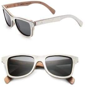 Shwood Canby White Slate & Wood Sunglasses