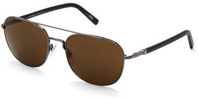 Montblanc MB 597S Chrome-Tone Aviator Sunglasses
