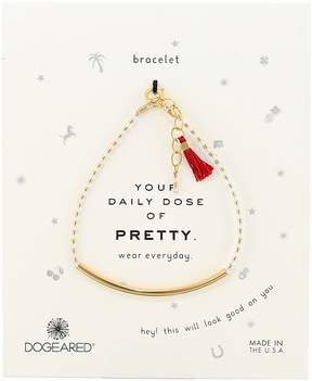 Dogeared Your Daily Dose of Pretty Tube w/ Gems Bracelet Bracelet