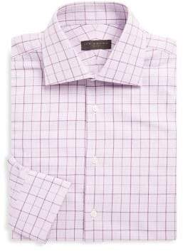 Ike Behar Cotton Overcheck Shirt