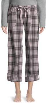 PJ Salvage Plaid-Print Pajama Pants