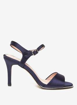 Dorothy Perkins **Showcase Navy 'Senorita' Satin Sandals