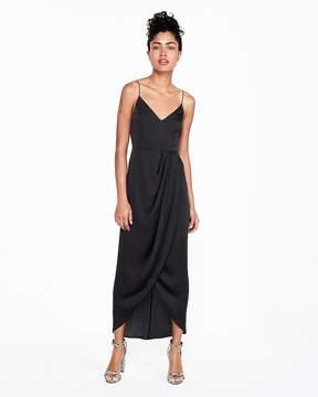 Express Satin Faux Wrap Maxi Dress