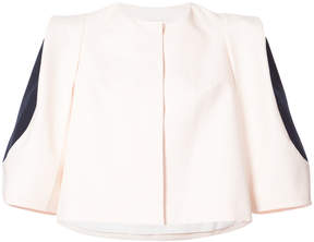 DELPOZO contrast-sleeve cropped jacket