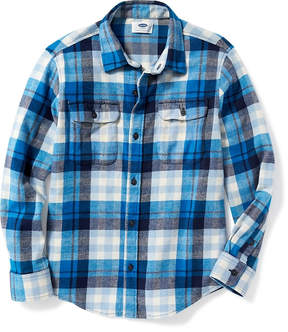 Old Navy Built-In Flex Flannel Double-Pocket Shirt for Boys