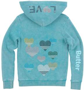 Butter Shoes Beaded Lace Up Hoodie