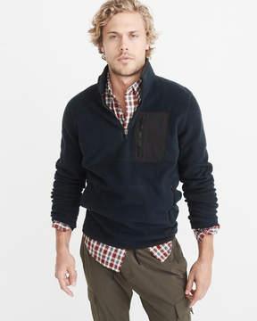 Abercrombie & Fitch Half-Zip Trail Fleece Pullover