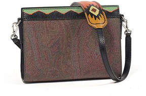 Etro Paisley-Print Leather Clutch Bag