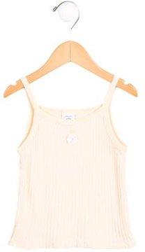 Petit Bateau Girls' Sleeveless Bow-Adorned Top