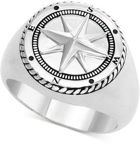 Effy Men's Compass Ring in Sterling Silver