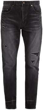 Saint Laurent Distressed slim-leg jeans