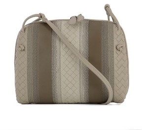 Bottega Veneta Women's Grey Leather Shoulder Bag.