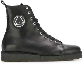 McQ logo patch military boots