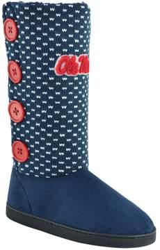 NCAA Women's Ole Miss Rebels Button Boots