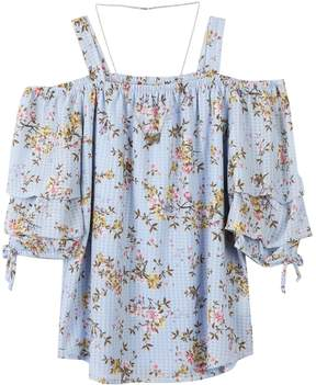 Speechless Girls 7-16 Off-The-Shoulder Tunic Top with Necklace