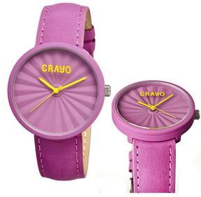 Crayo Pleats Collection CR1508 Unisex Watch