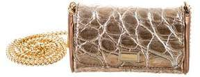 Dolce & Gabbana Embossed Leather Crossbody Bag - GOLD - STYLE