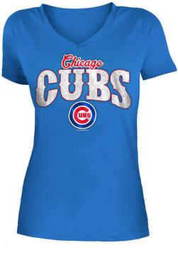5th & Ocean Women's Chicago Cubs Glitter T-Shirt