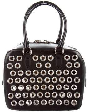 Alaia Grommet-Embellished Leather Satchel