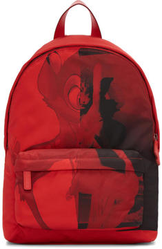 Givenchy Red Small Nylon Bambi Backpack