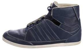 Y-3 Leather High-Top Sneakers