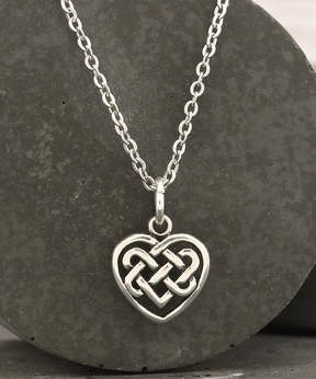 Celtic Sterling Silver Heart Necklace