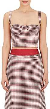 Brock Collection Women's Gingham Twill Bustier Crop Top