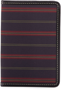 Neiman Marcus Striped Passport Holder, Black