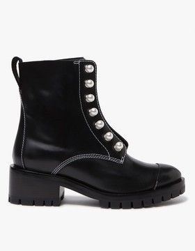 3.1 Phillip Lim Hayett Lug Sole Zipper Boot with Pearls