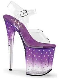 Pleaser USA Women's Stardust 808t Ankle-strap Sandal.