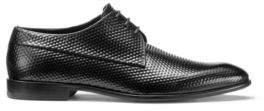 HUGO BOSS Embossed Leather Derby Dress Shoe Appeal Derb Item 12 Black