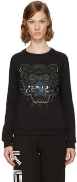 Kenzo Black and Green Tiger Sweatshirt