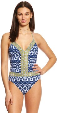 Bleu Rod Beattie Road To Morocco Plunge Halter One Piece Swimsuit 8152614