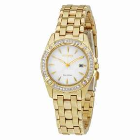 Citizen Silhouette Crystal Champagne Dial Lades Watch EW2352-59P