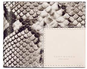Tory Burch BLOCK-T EMBOSSED TRAVEL FOLDABLE CARD CASE