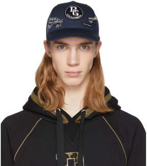 Dolce & Gabbana Blue Logo Patch Cap